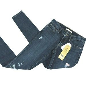 Levi's 711Blue Jeans Size 2 Skinny Distressed